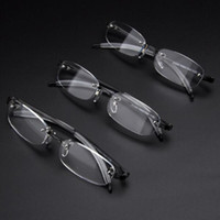 Wholesale ultralight rimless glasses resale online - Fashion Rimless TR90 Frame Nearsighted Glass Ultralight Shortsighted Myopia Glasses For Women and Men