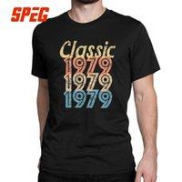 más el tamaño de la novedad camisetas al por mayor-1979 Vintage Retro Camiseta 40.o Regalos de cumpleaños para hombres Novedad O Cuello Manga corta Tops Camisetas de algodón Diseño T Camiseta Tallas grandes