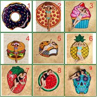 Wholesale hanging tapestries for sale - Group buy Wall Hanging Tapestry Skull Hamburg Beach Towel Creative Fruit Sunscreen Shawl Yoga Mat Printed Tablecloth Home Decor Tapestries MMA1553