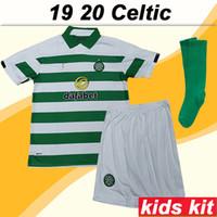 kits de futebol marrom venda por atacado-19 20 MCGREGOR GRIFFITHS Crianças Kit Camisas De Futebol Novo Celtic SINCLAIR FORREST CASTANHO ROGIC CHRISTIE Camisas De Futebol Em Casa Menino de Manga Curta