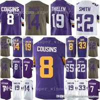 Men s Minnesota 8 Kirk Cousins 19 Adam Thielen 14 Stefon Diggs Jersey Viking  22 Harrison Smith 55 Anthony Barr 33 Dalvin Cook Jerseys f81a6220b