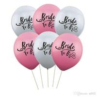 décorations de mariage gris achat en gros de-Flamingo Mariée À Être En Latex Balloon Bachelorette Party Partie De Fête D'anniversaire De Mariage Décoration Gris Ballons Rose 0 4fn A1
