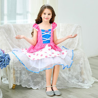 Wholesale chinese girls toys resale online - Christmas Toy Story Cosplay Costumes girl Dresses Kids Pink Princess Dot Cake Clothes Children Girls Birthday Party Performance Costume