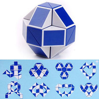 Wholesale magic game cubes for sale - Group buy Mini Magic Cube New Hot Snake Shape Toy Game D Cube Puzzle Twist Puzzle Toy Gift Random Intelligence Toys Supertop Party Favor WX T17
