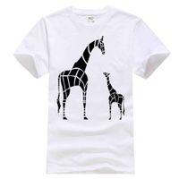 nova girafa venda por atacado-Roupas de marca Verão 2018 new top Mãe Girafa E Bebê mom day happy lovely gift