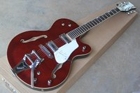 hohlkörper e-gitarren zum verkauf groihandel-2015 Heißer Verkauf-hochwertiger Custom Shop Wine Red Falcon 6120 TENNESSEE ROSE Semi Hollow Body Jazz elektrische Gitarre mit Tremolo Chrome Hardware