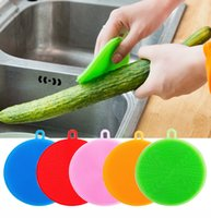 ingrosso ciotola di spazzola-Magic Silicone Dish Bowl Spazzole per la pulizia Pad Pad Pot Pan Wash Brush Cleaner Kitchen Cleaning Tools Cleaner DHL