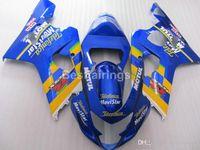 Wholesale yellow k5 fairing resale online - Top rate fairing kit for SUZUKI GSXR600 GSXR750 yellow blue GSXR K4 K5 fairings QW21