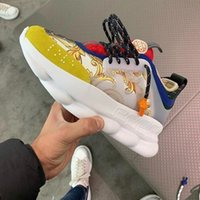 Wholesale tennis shoes brand for sale - With Box Designer Chain Reaction Men Running Shoes Luxury Brand Women Sports Trainers Fashion Height Increasing Casual Shoes Sneakers