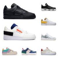 hava sporu modası toptan satış-2020 nike air force 1 af1 erkek kadın koşu ayakkabı 1 tipi gölge Para-gürültü siyah Zirvesi Beyaz Mistik Donanma Soluk hava Fildişi mens trainer moda spor sneakers