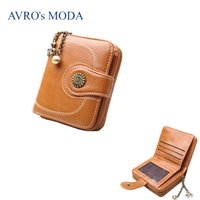 Wholesale vintage phones sale online – AVRO s MODA Brand PU leather wallet for women ladies hot sale vintage zipper purse strap money bag coin phone pocket clutch