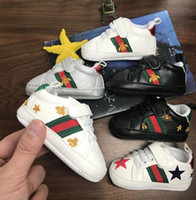 Wholesale shoes for babies leather for sale - Group buy Hot Kids Baby Infant Anti slip PU Leather Designer First Walker Sneaker Soft Soled Newborn Baby Sport Shoes for M Boy Girls