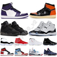 Wholesale best basketball kids for sale - Group buy Newest Best High Low s Jumpman Flints Bred Royal Toe Hare Court Purple Sneakers Trainer Kids Women Men Basketball Shoes US13