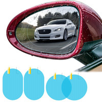 Wholesale mirrored window stickers resale online - 2pcs set Car Rearview Mirror Rainproof Film Anti Fog Window Foils Rear View Mirror Stickers Screen Protector HHA282