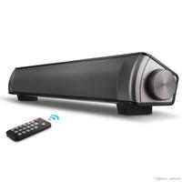 tableros de energía portátil al por mayor-Barra de sonido Surround Sound Bar Sistema de cine en casa con cable, tarjeta TF, altavoz Bluetooth - Barra de sonido inalámbrica para TV, PC, teléfono celular, tableta
