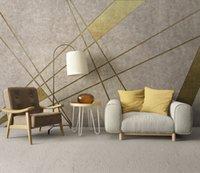 ingrosso carta da parati dorata di lusso-Bacaz Classic Luxury Damask Gold carta da parati Glitter Wallpaper Murale soffitto divano TV sfondo muro Home Decor 3D carta da parati