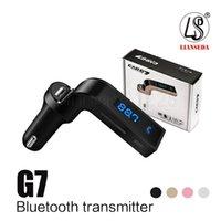 набор микро bluetooth оптовых-G7 Автомобильный Беспроводной Bluetooth MP3 FM-передатчик Модулятор 2.1A Автомобильное зарядное устройство Беспроводной комплект Поддержка громкой связи Micro SD TF