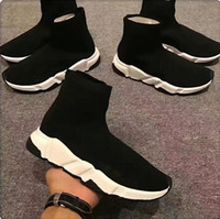botines morados sexy al por mayor-2020 zapatos de diseño plataforma Speed Trainer informal de triples calcetines rojos bule hombre blanca del plano de moda para mujer de tamaño de las zapatillas de deporte de moda deportiva 35-46