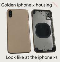 capa original capa iphone venda por atacado-tampa traseira para iphone x iphone x caixa dourada x mudança xs golden battery door O vidro original