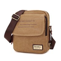Wholesale high quality mens shoulder bags resale online - 2018 New Men Messenger Bag Canvas Vintage Shoulder Bags High Quality Casual Fashion Small Mens Bags