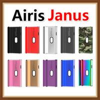 kutu bağlantıları toptan satış-Orijinal Airis Janus Kutusu Mod Vape Mod Pil E Sigara Pil 510 Kartuşları için Iki Bağlantı ile Kalın Yağ Bölmeleri 650 mAh VV Pil