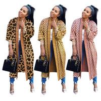 mulheres freeshipping da roupa venda por atacado-Mulheres moda de impressão cardigan de manga comprida de inverno queda designer de casaco roupa ocasional do leopardo outwear ocasional venda quente Freeshipping 1475