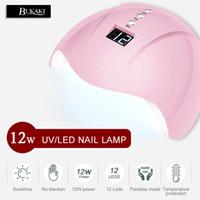 12 luzes led uv venda por atacado-BUKAKI UV Lâmpada LED 12 W LED Prego Secador de Rato Gel Polonês Lâmpada Fornecedores Luzes Para Máquina De Secagem Manicure