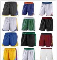 pantalon noir et blanc achat en gros de-2019 Haute qualité pas cher Rouge Blanc Noir Bleu Shorts Football Shorts 100% Surpiqué Pantalon de football vente chaude taille S-XXL livraison gratuite