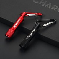 Wholesale black metal ornaments resale online - sup Cell Phone Charms Straps Accessories Mini flashlight metal keychain car keyring pendant car ornaments for iphone x goophone samsung