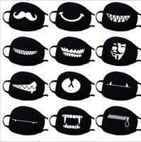 mann maske anime großhandel-Baumwolle Staubdichtes Mund Gesichtsmaske Anime-Karikatur-glückliche Bären Frauen Männer Muffle Gesicht Mund Masken GB887