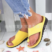 Wholesale toes covers flat sandals online - Fashion2019 Will Cooling Slope With Flange Set Toe Sandals
