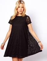 Wholesale womens summer shirts bows for sale – plus size Fashion Women Ladies Clothing Casual Lace Dress Designer Womens Dress Colors Blouse Tunic Dresses Slim Elegant Lace