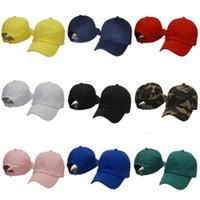sombrero en blanco venta al por mayor-Sombrero de golf Gorra de béisbol para movimiento al aire libre Hombres y mujeres Camuflaje En blanco Snapback Transpirable Rojo Amarillo Ventas calientes 13yp C1
