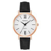 reloj multi color mujer al por mayor-Multi-color Opcional de la Mujer Relojes de Las Señoras de Cuero de Moda Casual Reloj de pulsera de Cuarzo relojes para mujer montre femme saat C50
