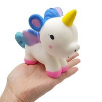 Wholesale toy horses for free resale online - 20pcs Squishy toy horse cm rare squishy PU soft jumbo Cell Phone Straps Charms kids boy girl gift