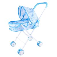 Wholesale stroller baby doll resale online - Metal Baby Dolls Stroller Carriage Kids Gift Pretend Role Play Toys Gifts