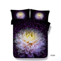 Wholesale decorative gun resale online - Purple Floral Duvet Cover Set Decorative Piece Bedding Set With Pillow Shams Watercolor Roses Gun Bed Cover Comforter Cover Kids Boys