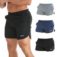 Wholesale Summer Mens New Sport Running Shorts Quick Dry Bodybuilding Short Pants Men Gym Basketball Tennis Fitness Beach Shorts Man Homme