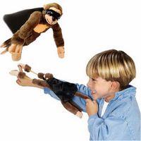 fliegen plüsch großhandel-Der fliegende schreiende Affe, der Finger fliegt, spielt Slingshot-Affe-Plüsch spielt Art-Tier des Neuheits-Spielzeug-6 Freies Verschiffen