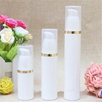 havasız şişe beyaz toptan satış-15 ML Boş kozmetik beyaz vakum şişesi, havasız pompa kişisel bakım şişeleri boş losyon şişeleri konteyner ile pompa 2019012601