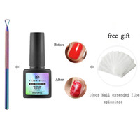 Wholesale uv coating liquid for sale - Group buy Gel nail polish base and top coat not easily scratched Nail Natural Bursting Removal Wraps Liquid For Gel Varnish UV Y808