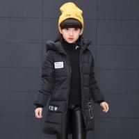 monos adolescentes al por mayor-la ropa de la chaqueta de invierno para los niños de las muchachas de piel con capucha caliente grueso Parka Prendas de abrigo adolescente abrigos de esquí Mono niños invierno ruso