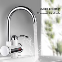 Wholesale electric heat tap resale online - 360 Rotate Electric Faucet Tap Hot Cold Water Sink Heating Instant Device V W Best Price