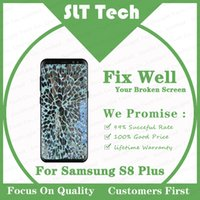 tela lcd quebrada venda por atacado-Substitua Broken Glass Serviço Para Samsung Galaxy S8 G950F Além disso G955F Tela LCD Original AMOLED Com Frame Repair Refurb