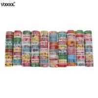 ingrosso washi che mascherano il fumetto del nastro-10 pz VODOOL Cute Cartoon Washi Tape Adesivo Adesivo Adesivo Scrapbooking FAI DA TE Adesivo Decorativo Set di nastri Masking Paper Tapes 2016