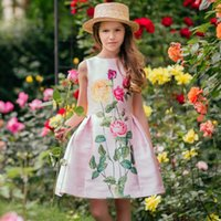 Wholesale tutu wedding for sale - Group buy Girl Princess Summer Dress Brand Kids Flowers Dress for Baby Girl Summer Clothing Baby Dress for Party and Wedding