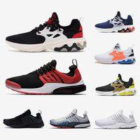 spor ayakkabıları siyah toptan satış-Nike air presto react shoes 2019 Ucuz Presto Erkekler Kadınlar Koşu Ayakkabıları Reaksiyon Üçlü Siyah Rabid Panda Breezy Perşembe Acımasız Bal Prestos Mens Eğitmenler Spor Sneakers