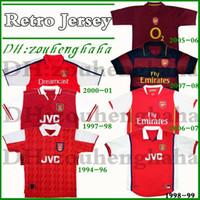 henry jersey venda por atacado-1994 96 artilheiro Bergkamp Retro camisa de futebol 97 98 99 Wright Henry v.Persie 00 01 05 06 07 08 antiga camisa de futebol