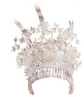 miao silberne ornamente großhandel-Miao Silber Ornamente, Miao Accessoires, Tiara, große Vogel-Tiara