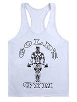 футболки для бодибилдинга оптовых-New Bodybuilding Tank Top Men Gyms Stringer Fitness Gyms Shirt  Clothing Muscle Workout Cotton Regatas Masculino